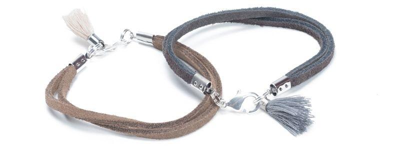 Ethno-Armband Velourleder
