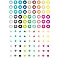 """Motivbogen, 12 mm, rund, """"Sterne"""", 108 Motive, Cabochonvorlagen"""