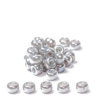 Miyuki Rocailles rund 6/0 (ca. 4 mm), Silver Grey Ceylon, ca. 20 gr
