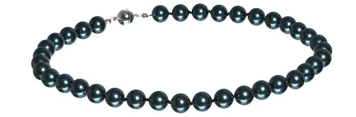 Kette mit Swarovski Crystal Pearls schwarz A10