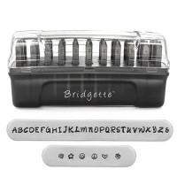 ImpressArt Buchstabenstempel, Schrift Bridgette Signature Letter Stamps, 3 mm, Großbuchstaben, geeig