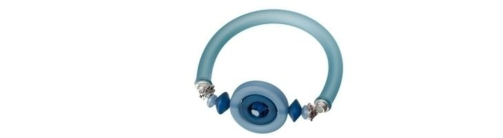 Schlaucharmband Hellblau