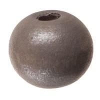 Holzperle Kugel, 8 mm, grau