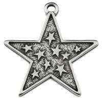 Metallanhänger Stern, versilbert, x x mm