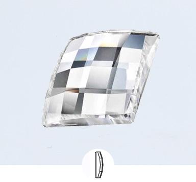 Preciosa 12 x12 mm Chessboard Square Flat Back Stone