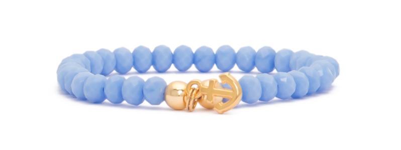Armband mit vergoldeten Perlen Kugeln und Anker