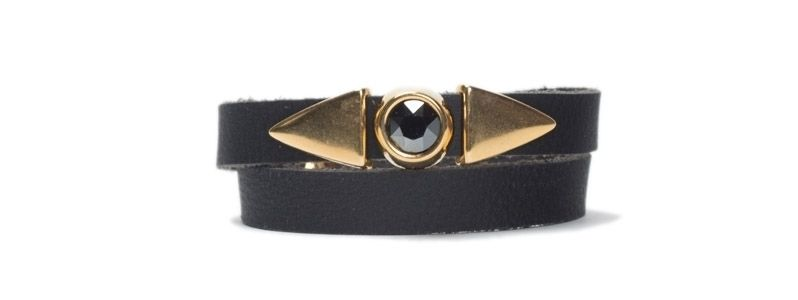 Armband mit Schiebeperlen Dreiecke & Rivoli