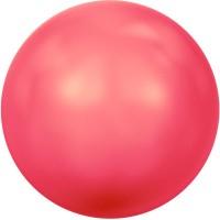 Swarovski Crystal Pearl, rund, 6 mm, neon red
