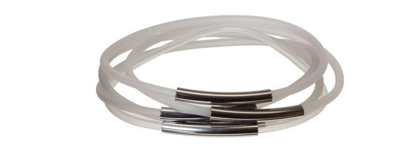 Schlaucharmbänder Transparent