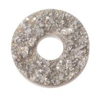 PolarisTendo Cabochon Goldstein, rund, 12 mm, weiß