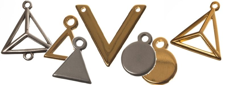 Geometrische Metallanhänger