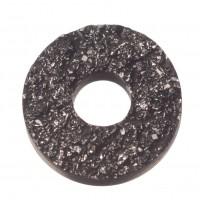 PolarisTendo Cabochon Goldstein, rund, 12 mm, schwarz