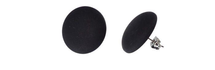 Ohrstecker Schwarz groß