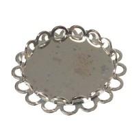 Deckel für Glaskugel ohne Öse, Durchmesser 20 mm, silberfarben