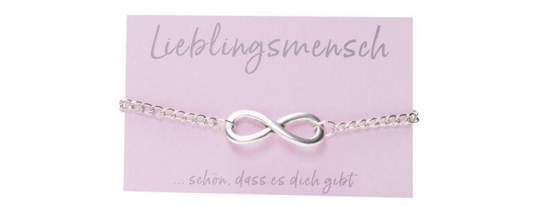 Glücks-Armband mit Infinity-Zeichen Versilbert