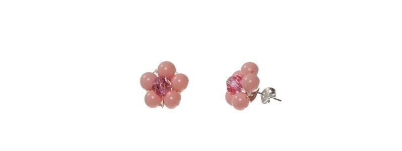 Blumenohrstecker Pink Coral