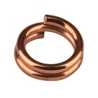 Spaltring, Durchmesser 5 mm, rosevergoldet