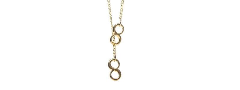 Feine goldene Halsketten Infinity