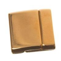 Magnetverschluss für flache Bänder 24 x 24,5 mm, vergoldet