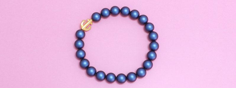 Armband mit Crystal Pearls und Anker