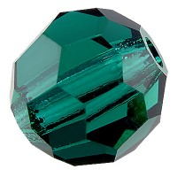 Preciosa Round Bead/Kugel, 6 mm, emerald