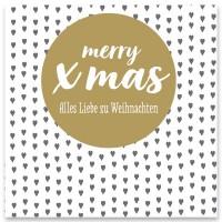 "Schmuckkarte ""Merry Xmas"", weiß, quadratisch, Größe 8,5 x 8,5 cm"