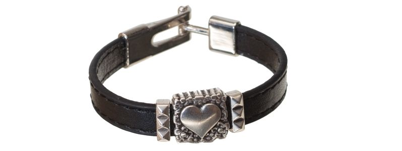 Lederlook Armband Herz