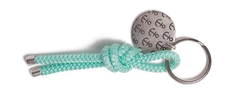 Maritimer Schlüsselanhänger aus Segeltau Knoten Veraman