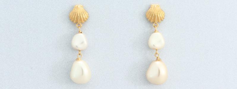 Ohrringe mit Nacre Perlen von Preciosa Muschel