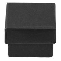 Schmuckschachtel mit Schaumstoffinlet, rechteckig, schwarz, 4 x 4 x 3 cm