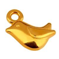 Metallanhänger Vogel, 9 x 8 mm, vergoldet