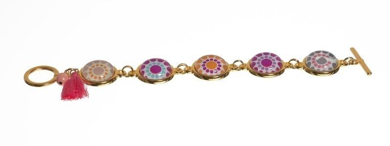Bohoarmband Gold-Pink
