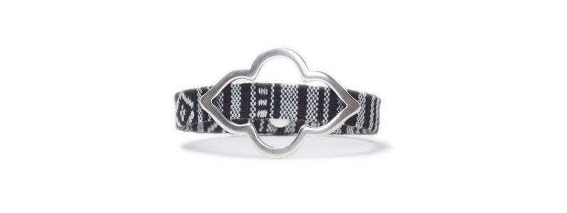 Armband mit Schiebeperlen Orientalisch Silber
