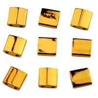Miyuki Tila Bead 5 mm, 24 KT gold plated, Röhrchen mit ca. 7,2 gr
