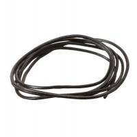 Lederband, 2 mm, Länge 1 m, schwarz