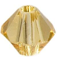 Swarovski Elements Bicone, 4 mm, light topaz