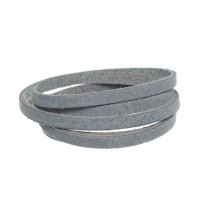 Craft Lederband, 5 mm x 1,5 mm, Länge 1 m, Steel