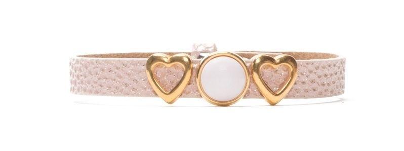 Armband Primrose Pink mit Slidern und Polariscabochons einfach