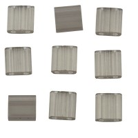 Miyuki Tila Bead 5 mm, silk pale gray, Röhrchen mit ca. 7,2 gr