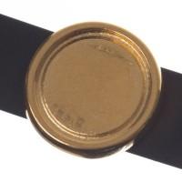 Fassung Slider/ Schiebeperle für runde Cabochons 12 mm, vergoldet