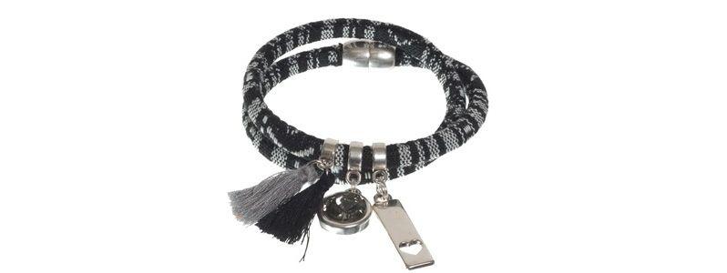 Boho-Armband Schwarz