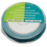 Rolle Baumwollband 1mm, Länge 5 m, türkisblau