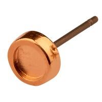 Ohrring mit Fassung  Swarovski SS16 mit Titanstift, rosevergoldet