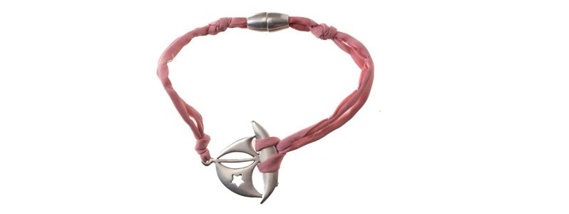 Seiden-Armband Rose Boot