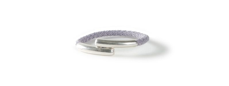 Einfaches Armband mit Segelseil Magnet Hellgrau