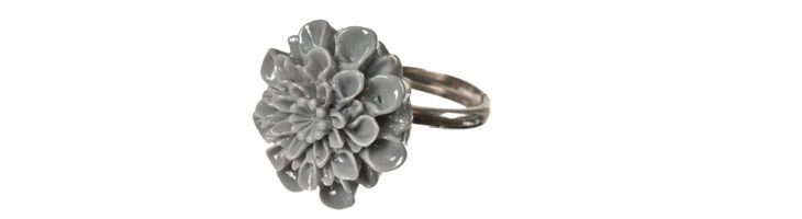 "Ring ""Graue Dahlie"""