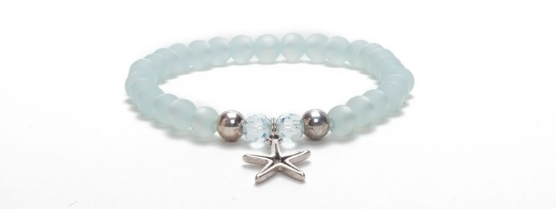 Armband Blue Bell mit Polarisperlen
