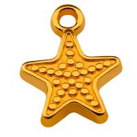 Metallanhänger Seestern, 12 mm, vergoldet
