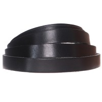 Lederband, 10 x 2 mm, Länge 1 m, schwarz