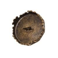 Deckel für Glaskugel, Öse beidseitig, für Kugelöffnung  15 mm, bronzefarben